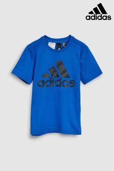 adidas Blue Camo Stack Tee
