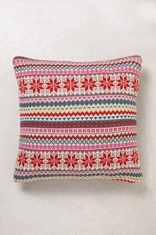 Fairisle Pattern Knitted Cushion