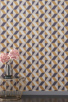Paste The Wall Gold Triangle Wallpaper