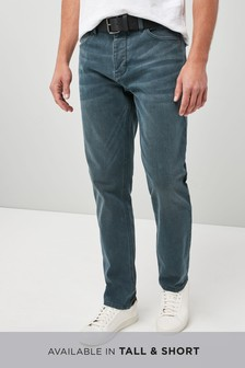 Stretch Belted Jeans