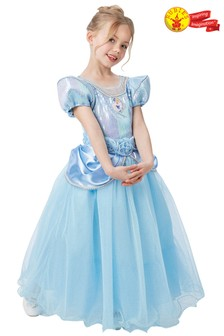 Rubies Blue Cinderella Premium Fancy Dress Costume