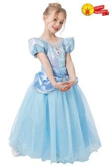 Rubies Blue Disney Princess Cinderella Premium Fancy Dress Costume