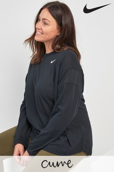 Nike Curve Black Long Sleeve Crew