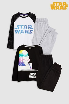 star wars pyjamas two pack 3 12yrs - Star Wars Christmas Pajamas
