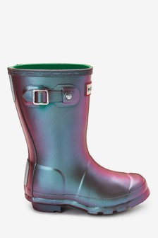 Hunter Kids Purple Original Nebula Wellies