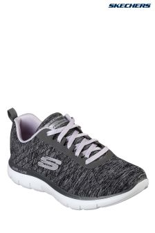 Skechers® Black Jersey Stitch Lace-Up With Air Cooled Memory Foam