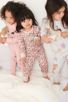 3 Pack Animal Snuggle Pyjamas (9mths-8yrs)