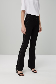 Beaded Side Stripe Boot Cut Jeans