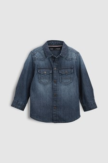 Long Sleeve Denim Shirt (3mths-6yrs)