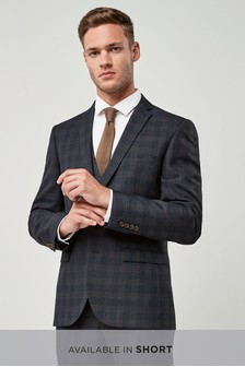 Slim Fit Check Suit