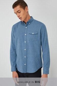 Long Sleeve Brushed Twill Shirt