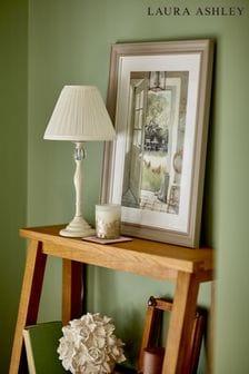 Cream Ellis Satin Painted Spindle Table Lamp