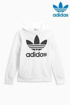 adidas Originals White Trefoil Hoody