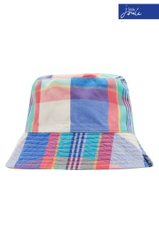 Joules Blue Check Brit Reversible Hat