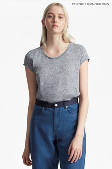 French Connection Blue Hetty Marl T-Shirt