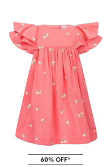 Tartine et Chocolat Red Cotton Dress