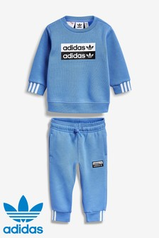 adidas Originals Infant Blue Vocal Crew And Joggers Set