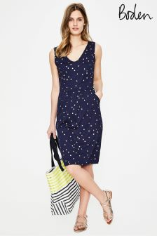 Boden Navy Melinda Jersey Dress