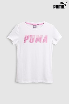 Puma® White/Pink Graphic Tee