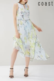 Coast Yellow Flo Print Dress