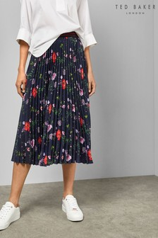 Ted Baker Navy Floral Skirt