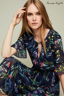Phase Eight Navy Kristen Floral Print Dress