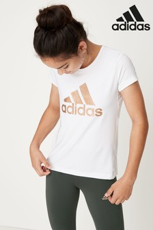 adidas White/Gold T-Shirt