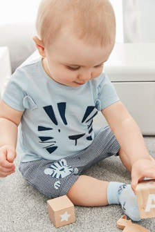 老虎圖案T恤和短褲組 (0個月至2歲)