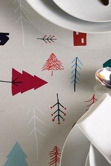 Weihnachtsbaum-Tischdecke aus PVC