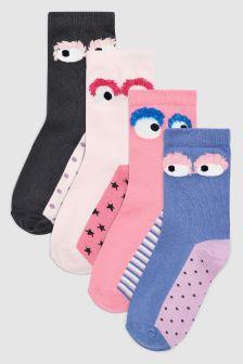 Monster Ankle Socks Five Pack (Older)