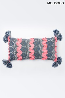 Monsoon Tuft Peacock Cushion
