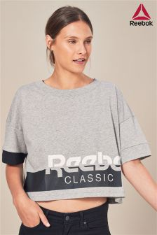 Reebok Grey Crop Tee