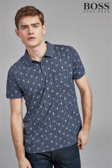 BOSS Navy Playbox Polo