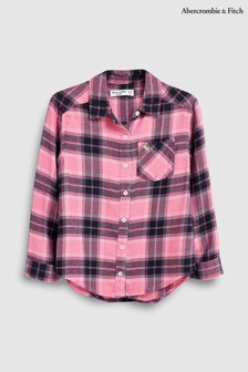 Abercrombie & Fitch Girls Hot Pink Check Shirt