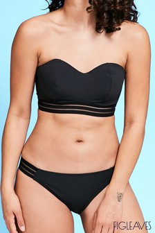 Figleaves Black Icon Cara Underwired Bandeau Top