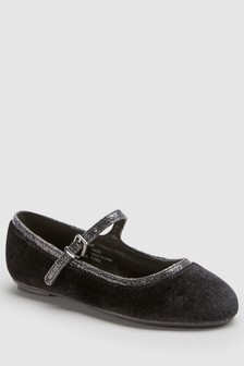 Velvet Mary Jane Shoes (Older)