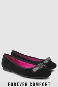 נעלי בלרינה מנצנצות עם פפיון