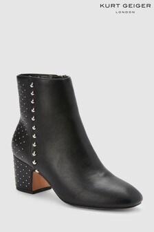 KG Black Stud Heel Taio Ankle Boot