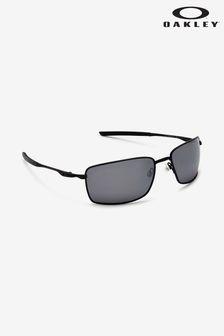 Черные квадратные солнцезащитные очки с оправой из проволоки Oakley®