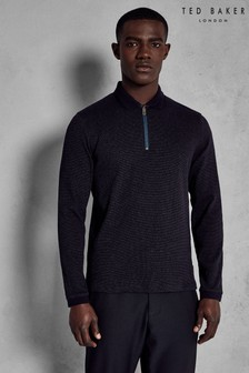 Ted Baker Caoco Zip Neck Long Sleeve Polo