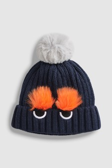 Faux Fur Pom Beanie (Younger)