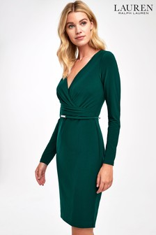 Lauren Ralph Lauren Fern Green Alexie Wrap Dress
