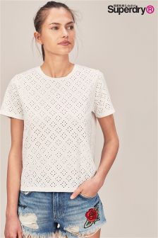 Superdry White Cut Out Tee