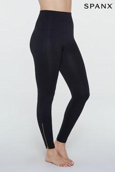 SPANX® Look At Me Now Black Side Zip Legging