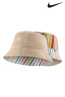 Nike Kids Pink Striped Reversible Bucket Hat