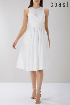 Coast White Lara Cotton Full Midi Dress