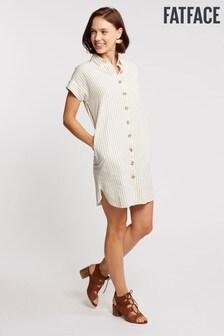 FatFace Natural Melissa Stripe Shirt Dress