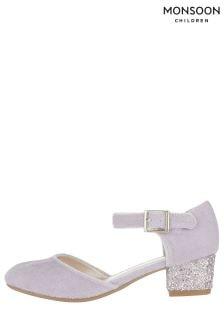 Monsoon Hazel Velvet Glitter Heel Charleston Shoes