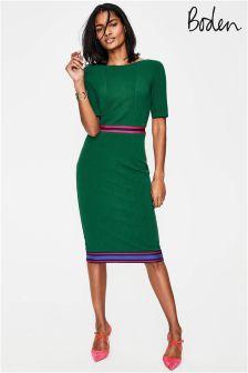 Boden Sap Green Multi Stripe Kaia Ottoman Dress