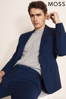 Moss 1851 Performance Tailored Fit Royal Blue Jacket